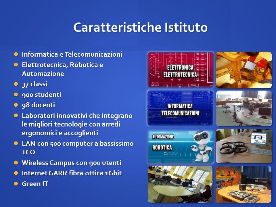 Caratteristiche Istituto Informatica e Telecomunicazioni Informatica e Telecomunicazioni Elettrotecnica, Robotica e Automazione Elettrotecnica, Roboti