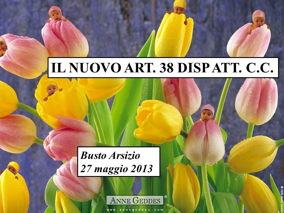 IL NUOVO ART. 38 DISP ATT. C.C. Busto Arsizio 27 maggio 2013