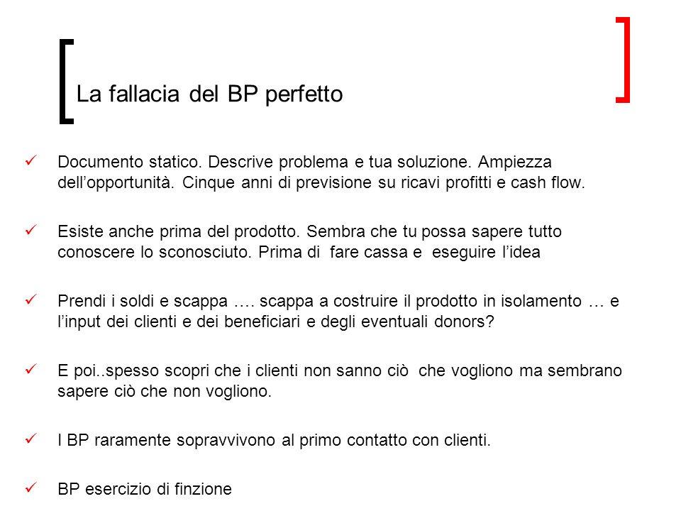 La fallacia del BP perfetto Documento statico.Descrive problema e tua soluzione.