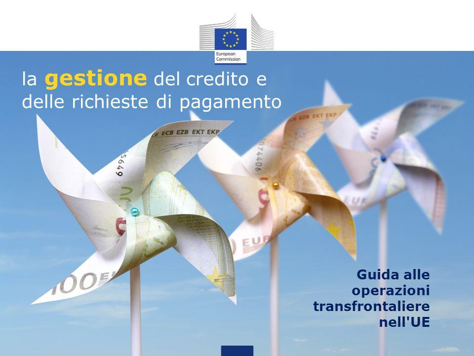 la gestione del credito e delle richieste di pagamento Guida alle operazioni transfrontaliere nell'UE
