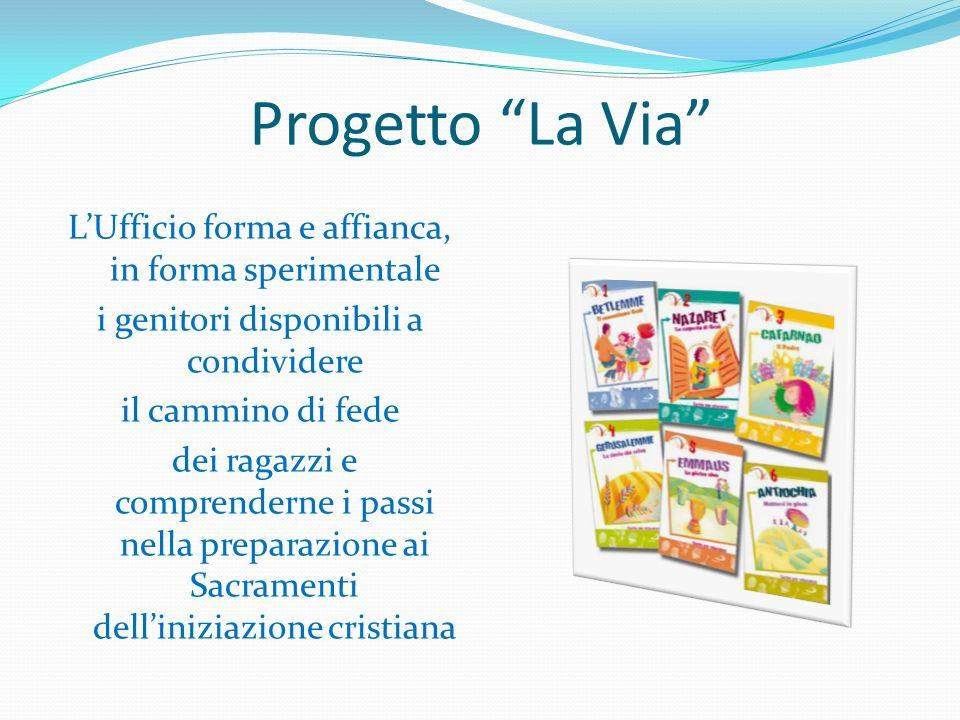 Progetto La Via LUfficio forma e affianca, in forma sperimentale i genitori disponibili a condividere il cammino di fede dei ragazzi e comprenderne i