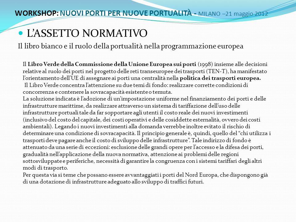 Lo scenario normativo nazionale della regolamentazione portuale è caratterizzato dalla legge n.