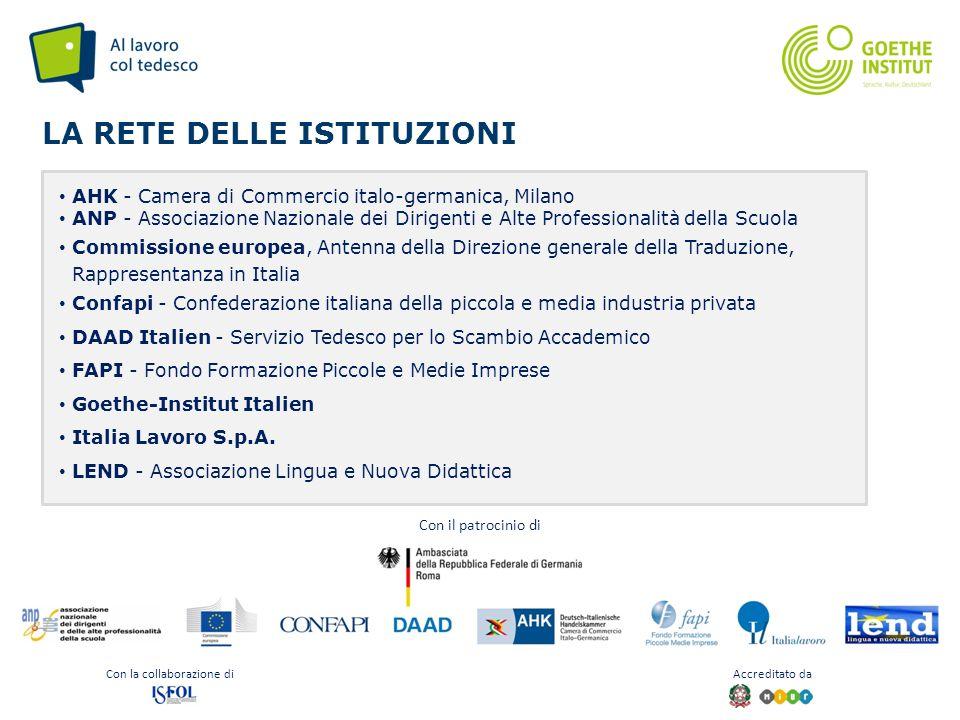 Seite 6 LA RETE DELLE ISTITUZIONI AHK - Camera di Commercio italo-germanica, Milano ANP - Associazione Nazionale dei Dirigenti e Alte Professionalità