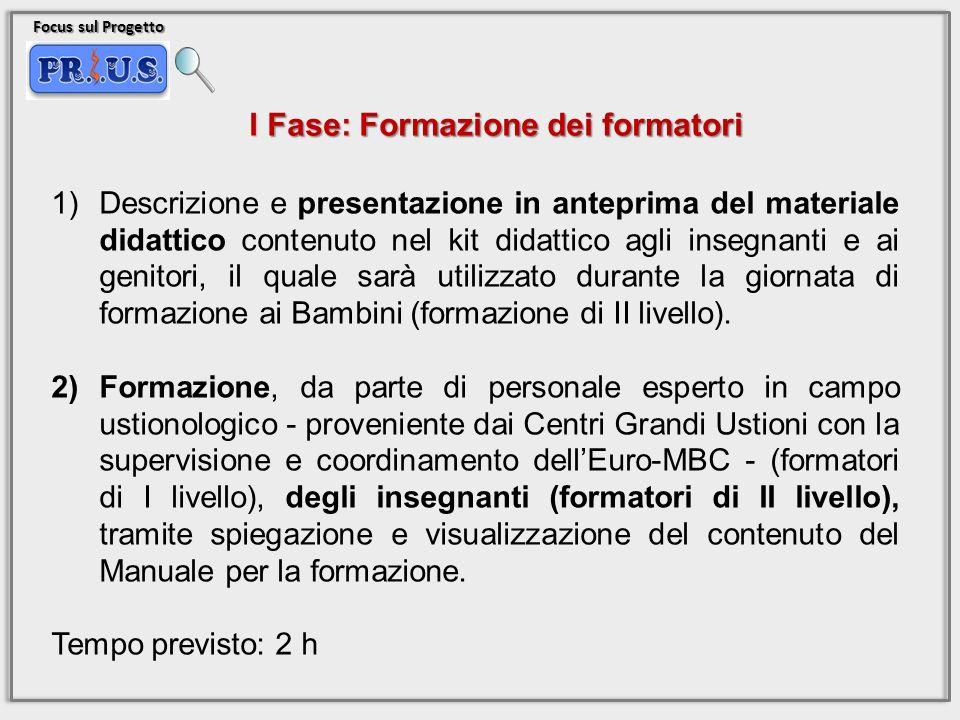 Focus sul Progetto 1)Descrizione e presentazione in anteprima del materiale didattico contenuto nel kit didattico agli insegnanti e ai genitori, il qu