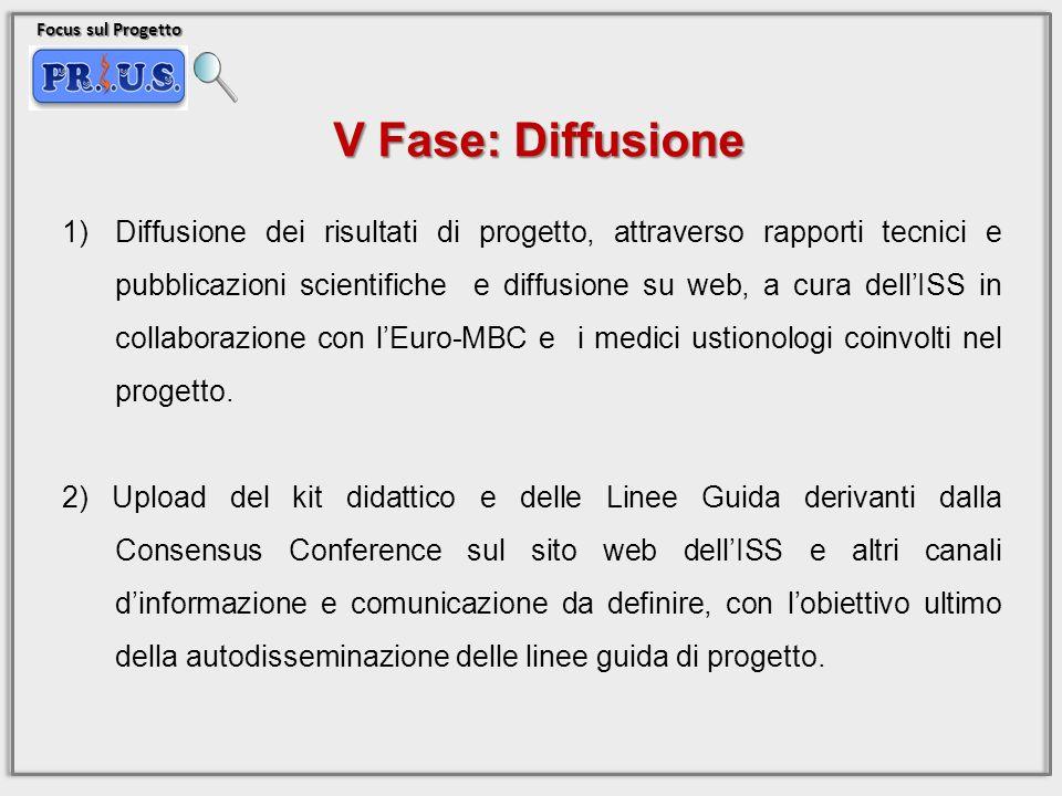 Focus sul Progetto 1)Diffusione dei risultati di progetto, attraverso rapporti tecnici e pubblicazioni scientifiche e diffusione su web, a cura dellIS