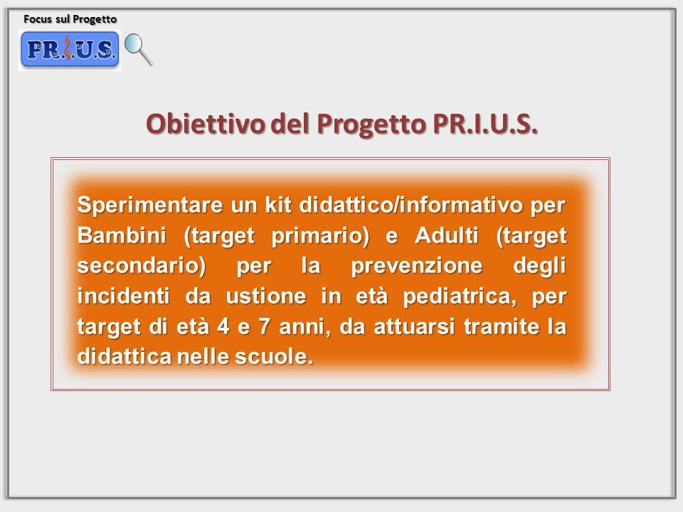 Focus sul Progetto Obiettivo del Progetto PR.I.U.S. Sperimentare un kit didattico/informativo per Bambini (target primario) e Adulti (target secondari