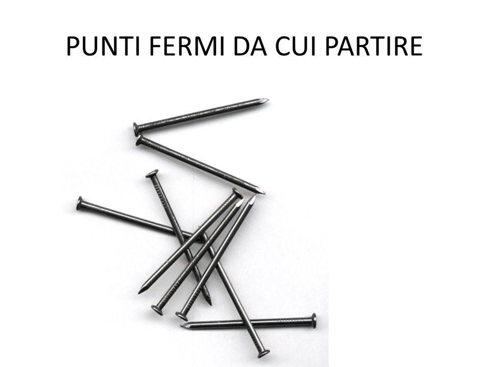 PUNTI FERMI DA CUI PARTIRE