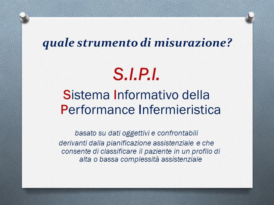 quale strumento di misurazione? S.I.P.I. Sistema Informativo della Performance Infermieristica basato su dati oggettivi e confrontabili derivanti dall