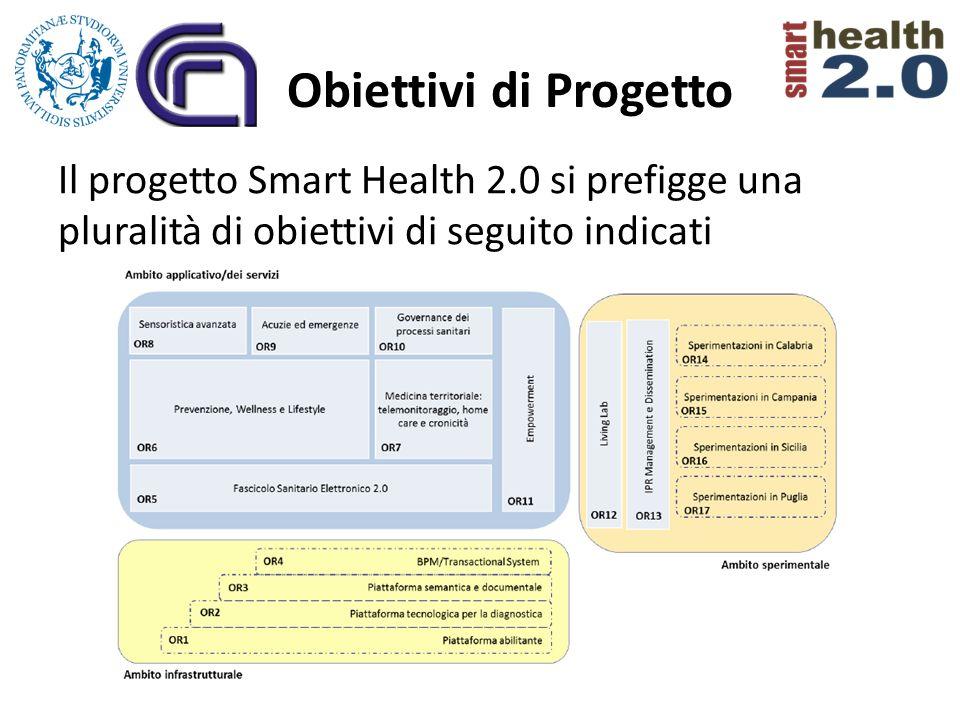 Obiettivi di Progetto Il progetto Smart Health 2.0 si prefigge una pluralità di obiettivi di seguito indicati
