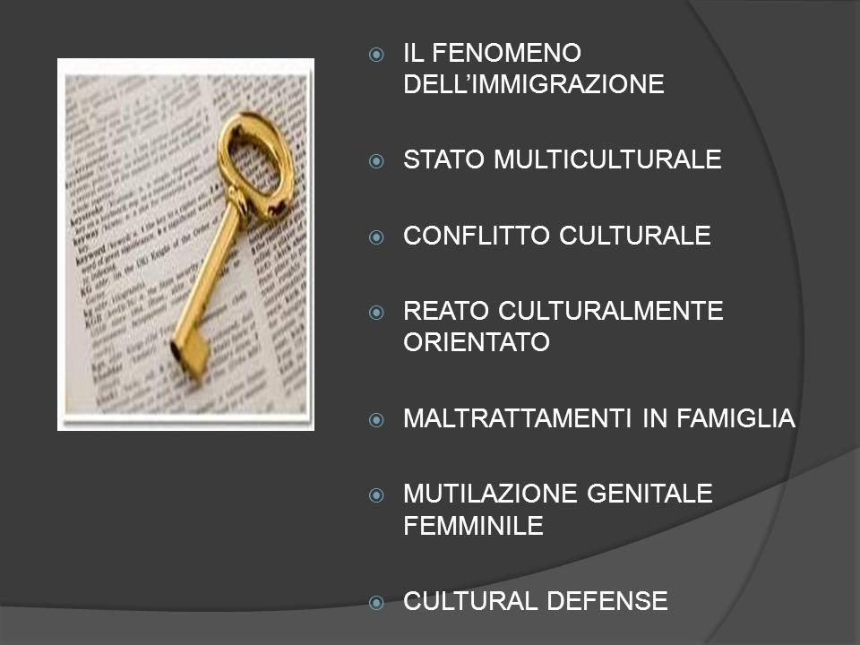 3) Raffronto culturale del gruppo di minoranza con la cultura del sistema ospitante Confronto tra cultura del gruppo cui appartiene lagente e quella del paese ospitante Se il divario è consistente, si può concludere per la sussistenza della motivazione culturale