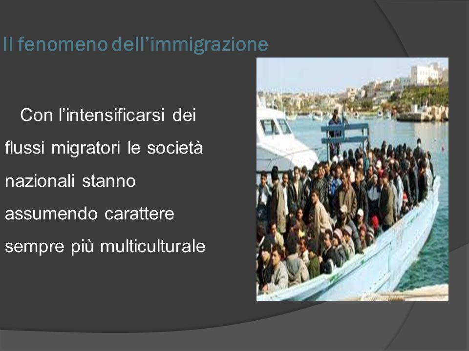 Il fenomeno dellimmigrazione Con lintensificarsi dei flussi migratori le società nazionali stanno assumendo carattere sempre più multiculturale