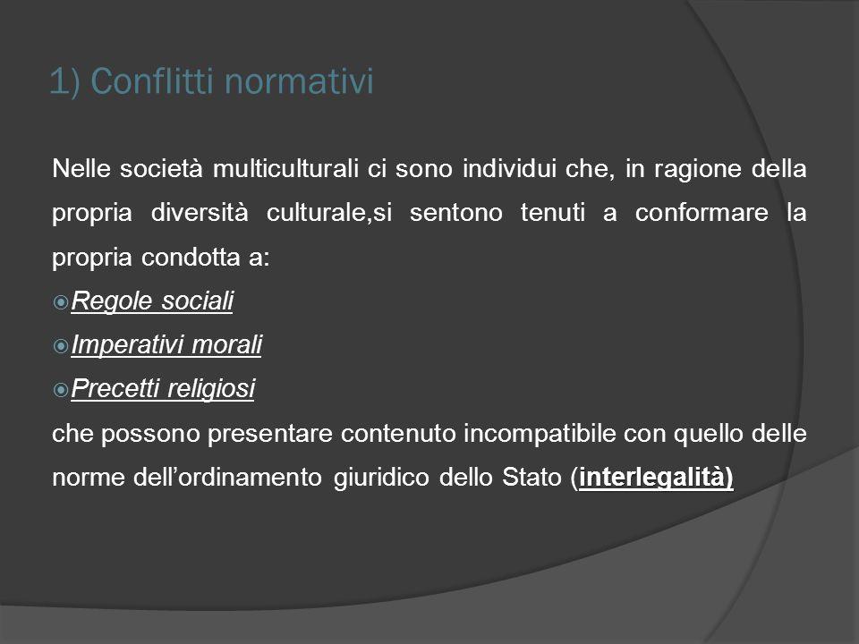 LItalia si chiede… Le nuove realtà culturali debbono indurre a giudicare lautore del reato anche in base alle tradizioni proprie della comunità di appartenenza e alle sue esperienze di vita?
