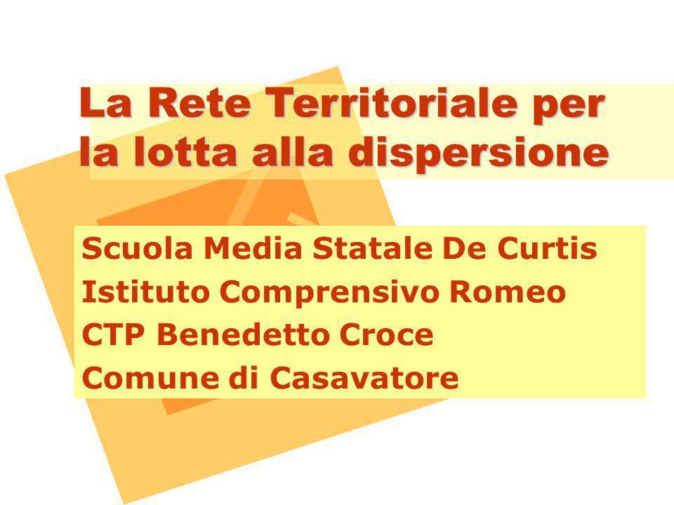 La Rete Territoriale per la lotta alla dispersione Scuola Media Statale De Curtis Istituto Comprensivo Romeo CTP Benedetto Croce Comune di Casavatore