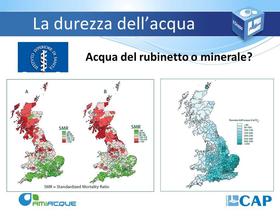 La durezza dellacqua Acqua del rubinetto o minerale?