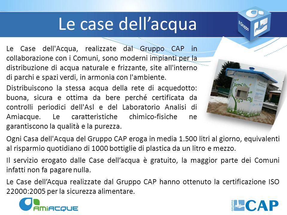 Le case dellacqua Le Case dell'Acqua, realizzate dal Gruppo CAP in collaborazione con i Comuni, sono moderni impianti per la distribuzione di acqua na
