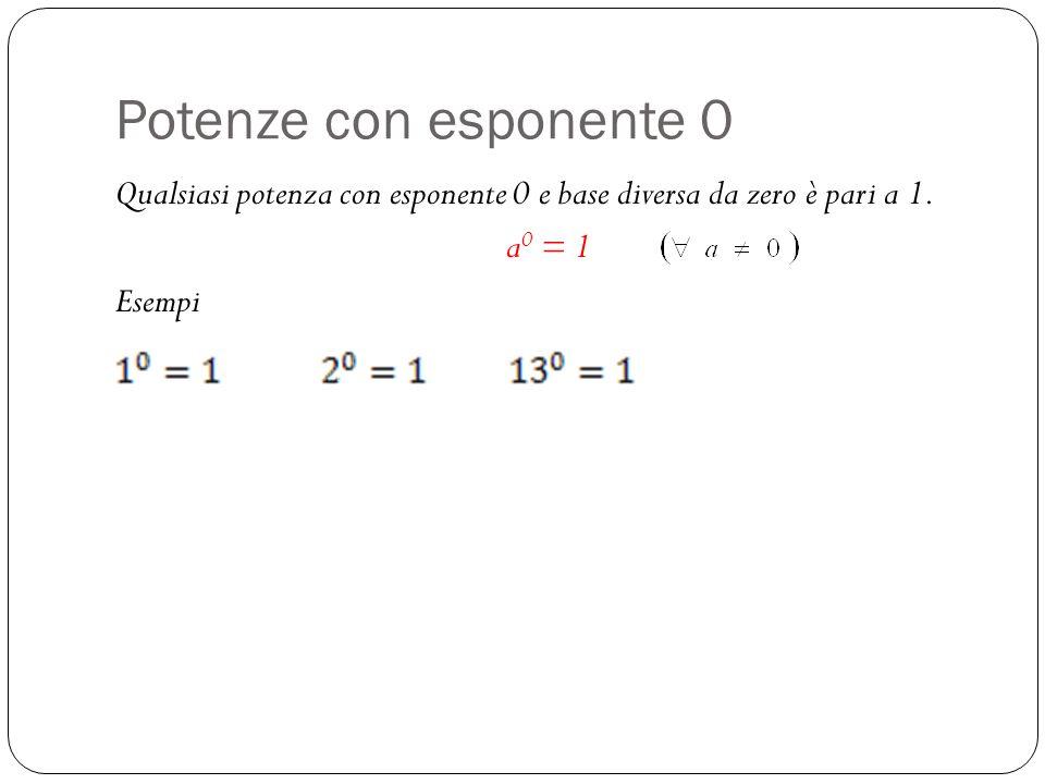 xchè 2 -1 fa 0,5… Applicando le proprietà delle potenze ho 2 2 : 2 3 = 2 2-3 = 2 -1 La regola afferma che le potenze con esponente negativo sono linverso della base con lo stesso esponente senza segno Perché 2 -1 fa 0,5.