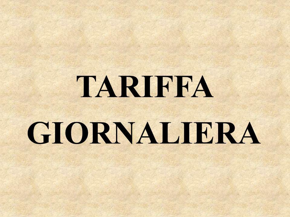 TARIFFA GIORNALIERA