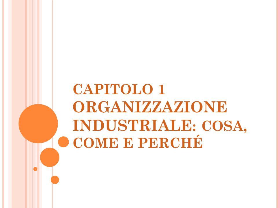 CAPITOLO 1 ORGANIZZAZIONE INDUSTRIALE : COSA, COME E PERCHÉ