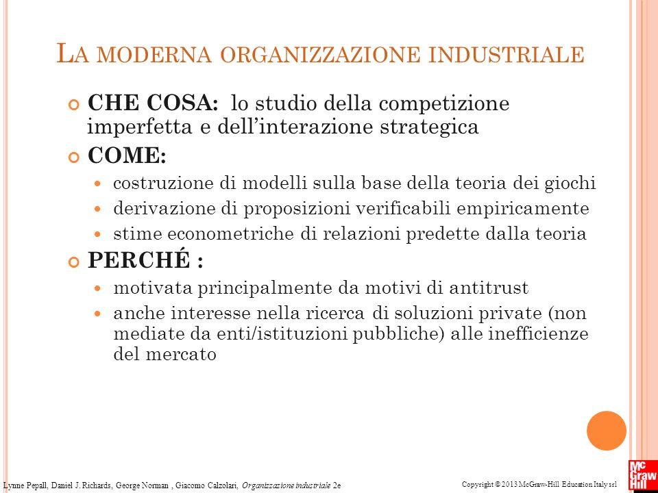 Copyright © 2013 McGraw-Hill Education Italy srl Lynne Pepall, Daniel J. Richards, George Norman, Giacomo Calzolari, Organizzazione industriale 2e L A