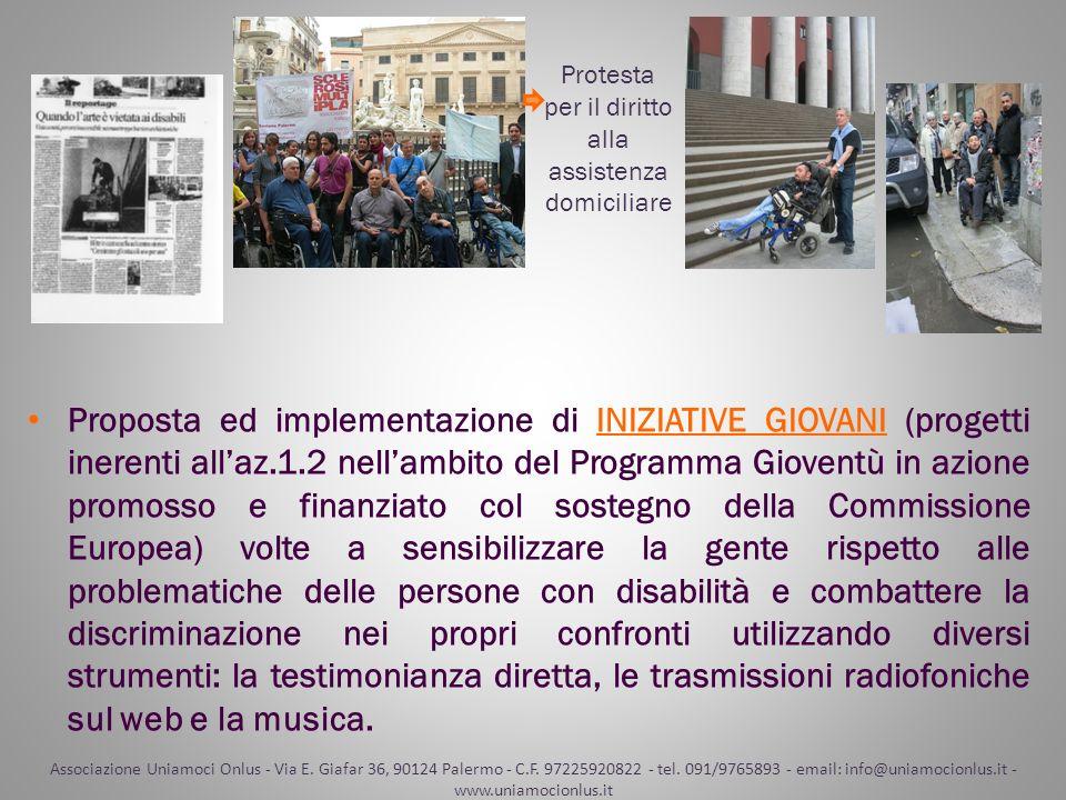Proposta ed implementazione di INIZIATIVE GIOVANI (progetti inerenti allaz.1.2 nellambito del Programma Gioventù in azione promosso e finanziato col s