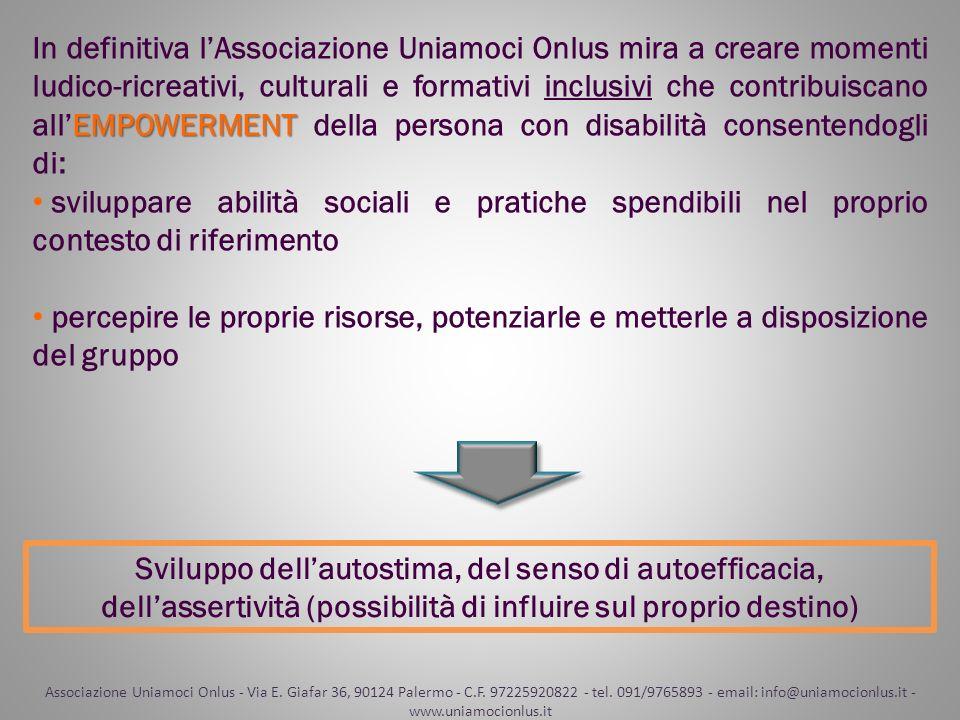 Associazione Uniamoci Onlus - Via E. Giafar 36, 90124 Palermo - C.F. 97225920822 - tel. 091/9765893 - email: info@uniamocionlus.it - www.uniamocionlus