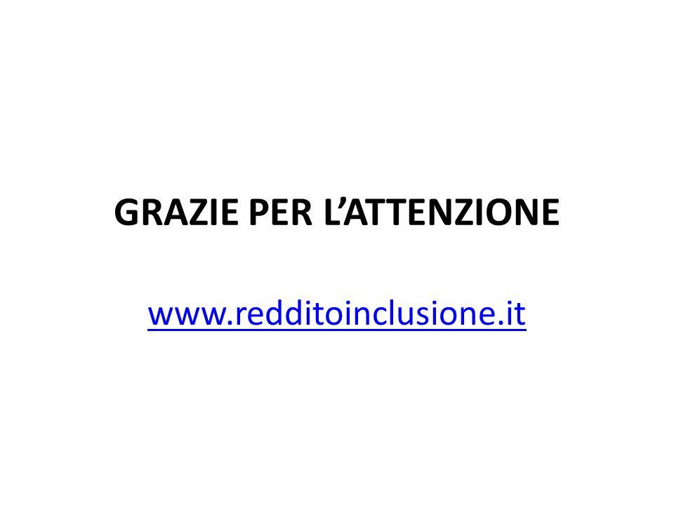 GRAZIE PER LATTENZIONE www.redditoinclusione.it