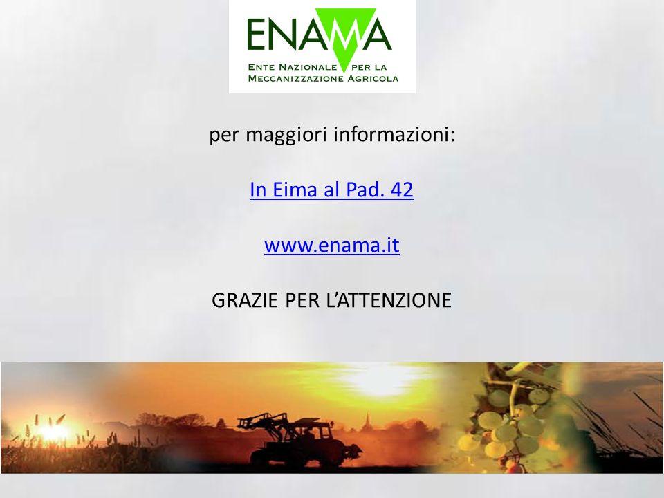 per maggiori informazioni: In Eima al Pad. 42 www.enama.it GRAZIE PER LATTENZIONE