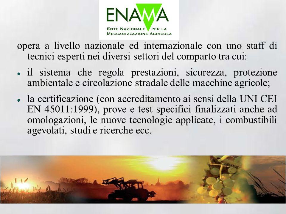 opera a livello nazionale ed internazionale con uno staff di tecnici esperti nei diversi settori del comparto tra cui: il sistema che regola prestazio