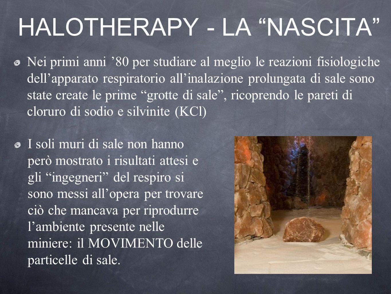 HALOTHERAPY - LA NASCITA Nei primi anni 80 per studiare al meglio le reazioni fisiologiche dellapparato respiratorio allinalazione prolungata di sale