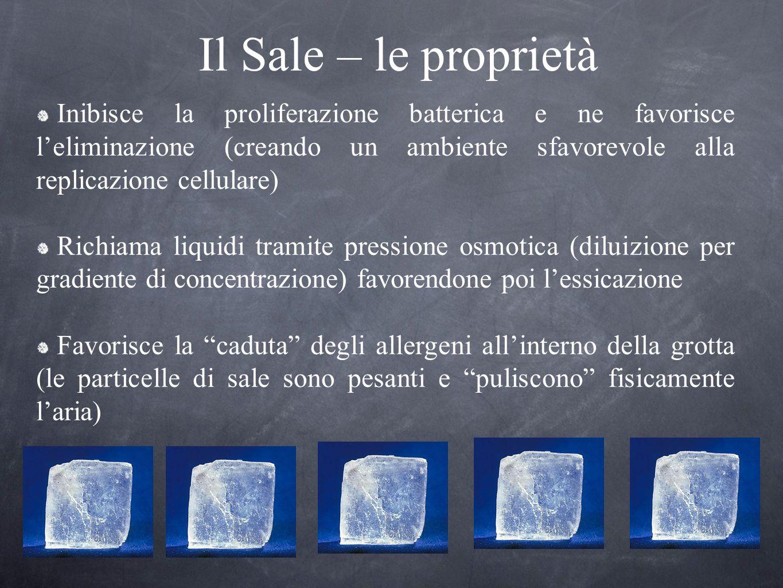 Il Sale – le proprietà Inibisce la proliferazione batterica e ne favorisce leliminazione (creando un ambiente sfavorevole alla replicazione cellulare)