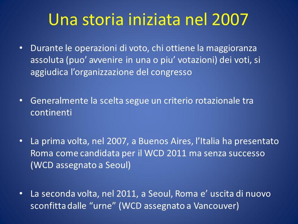 Una storia iniziata nel 2007 Durante le operazioni di voto, chi ottiene la maggioranza assoluta (puo avvenire in una o piu votazioni) dei voti, si agg
