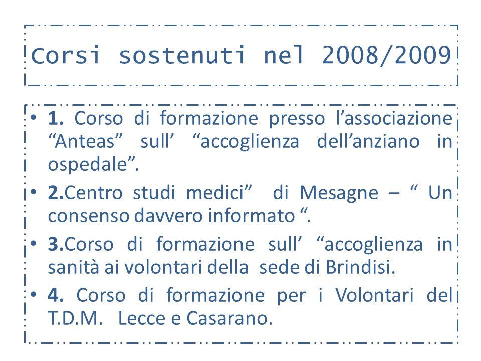 Corsi sostenuti nel 2008/2009 1.