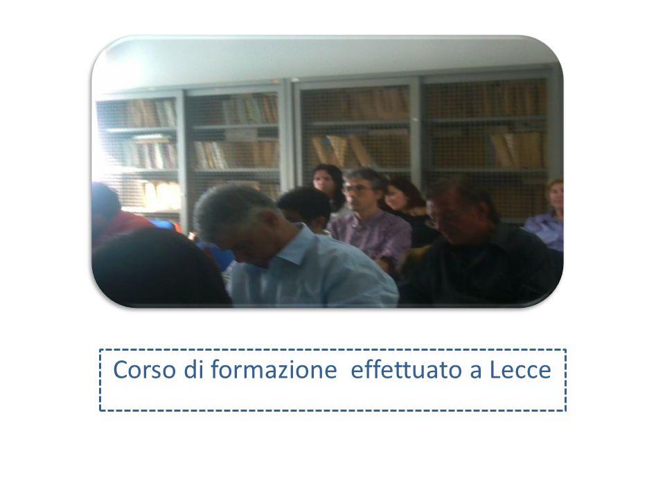Corso di formazione effettuato a Lecce