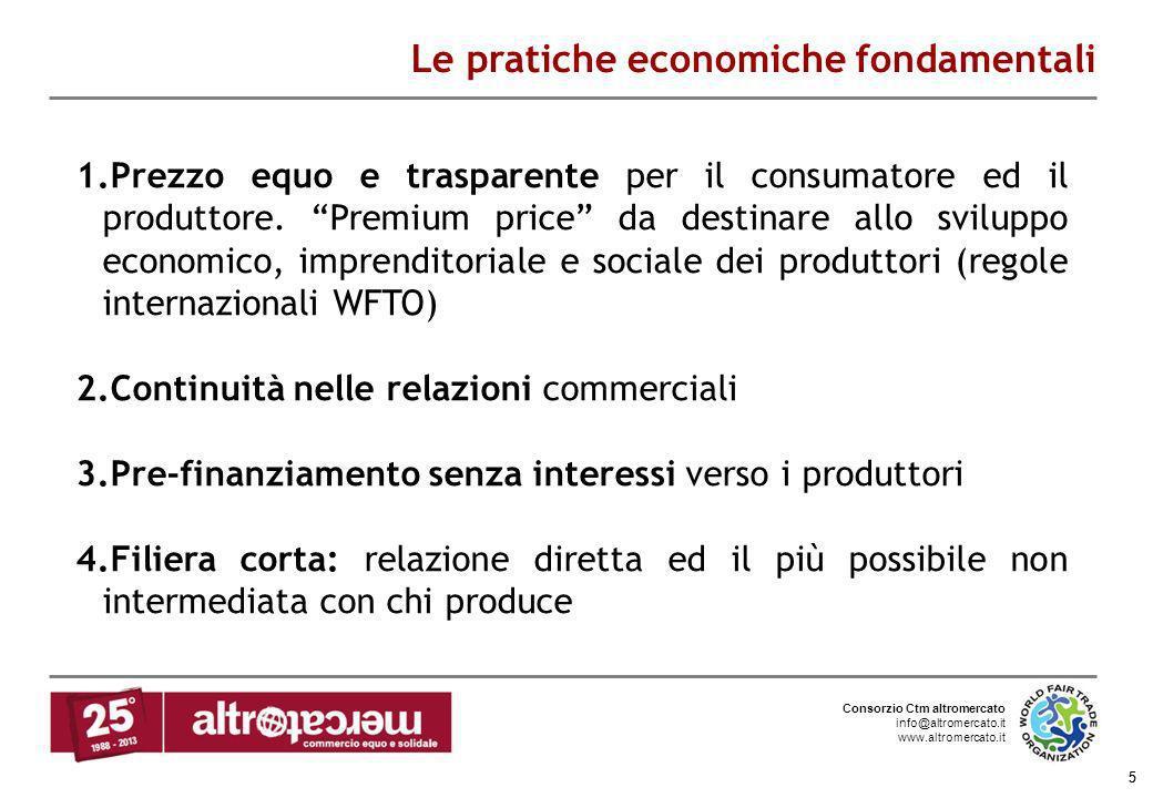 Consorzio Ctm altromercato info@altromercato.it www.altromercato.it 5 Le pratiche economiche fondamentali 5 1.Prezzo equo e trasparente per il consuma