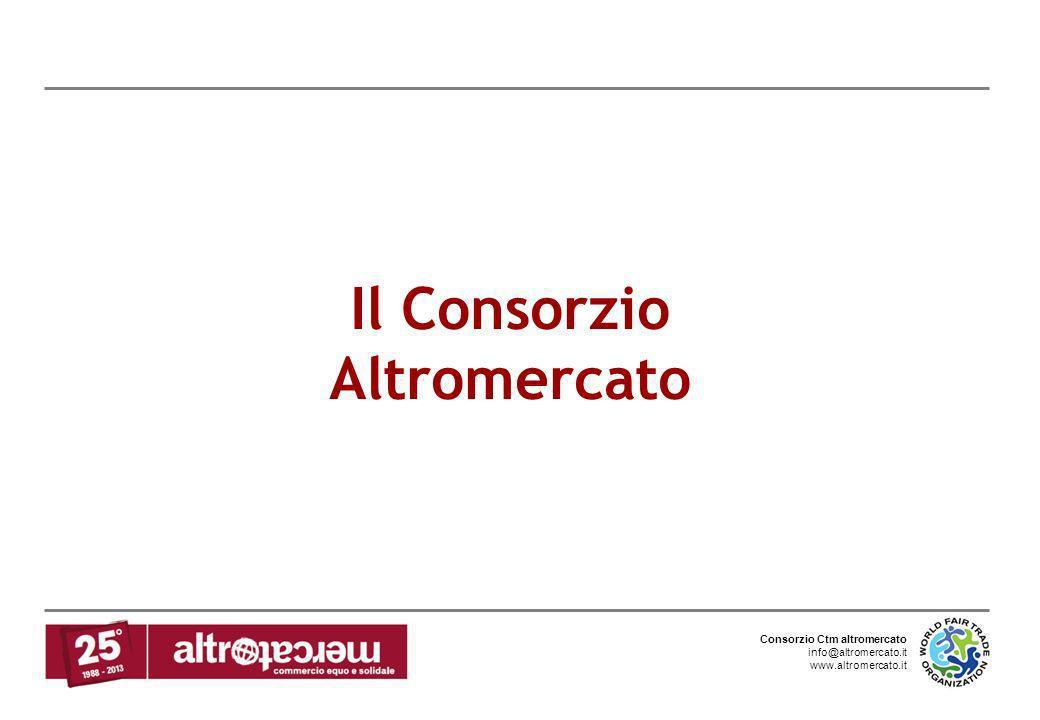 Consorzio Ctm altromercato info@altromercato.it www.altromercato.it Il Consorzio Altromercato