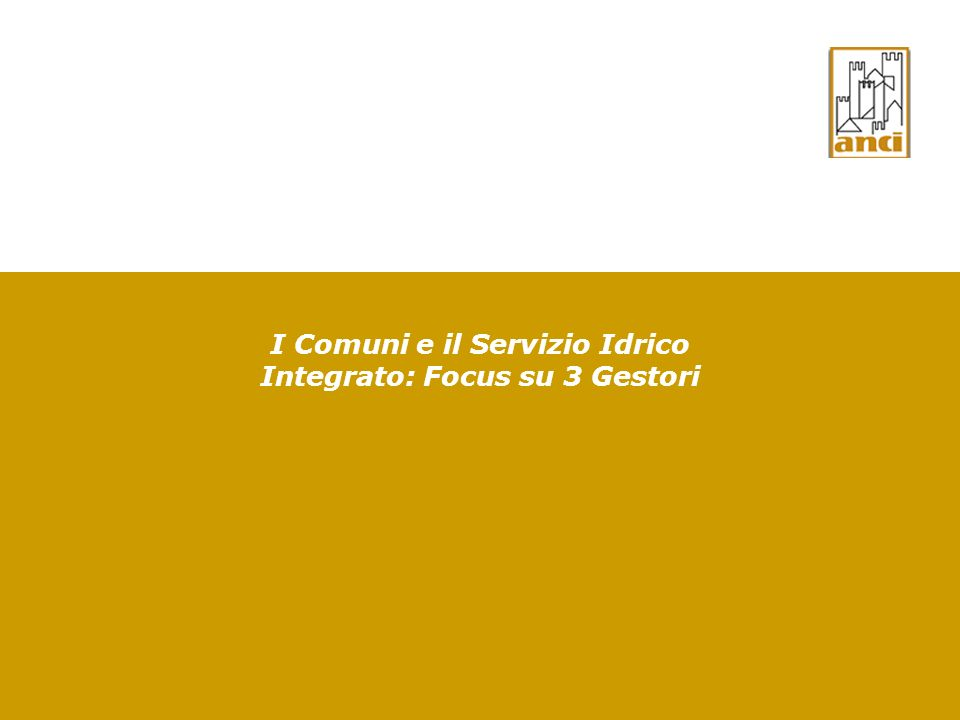 32 Gestione delle reti/impianti del ciclo idrico integrato La Sentenza n.