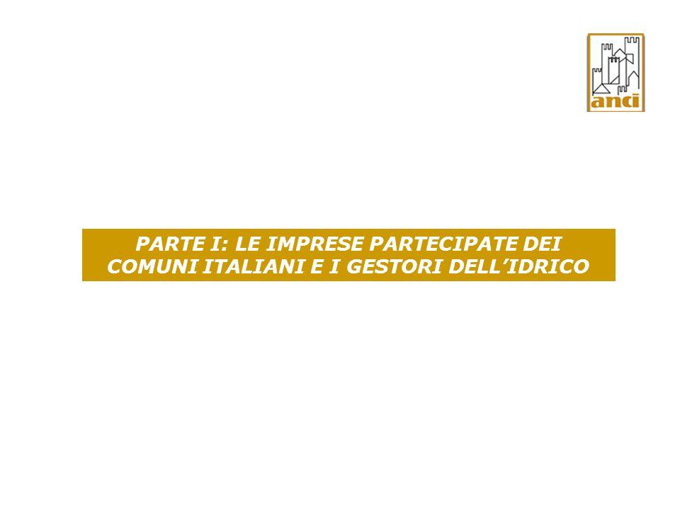 PARTE I: LE IMPRESE PARTECIPATE DEI COMUNI ITALIANI E I GESTORI DELLIDRICO