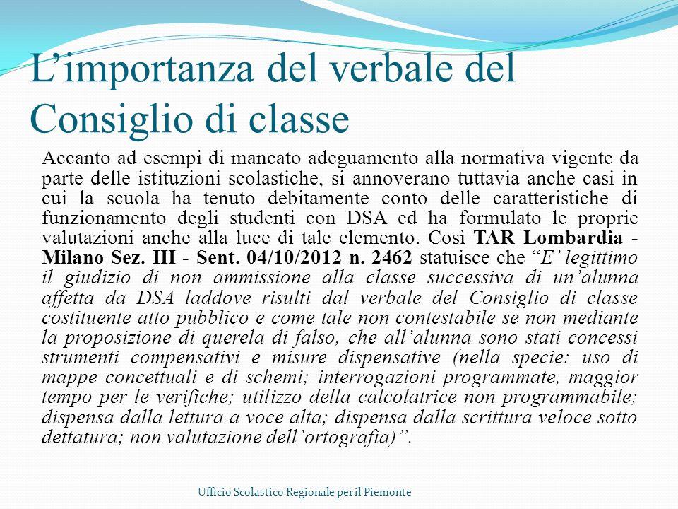 Limportanza del verbale del Consiglio di classe Accanto ad esempi di mancato adeguamento alla normativa vigente da parte delle istituzioni scolastiche