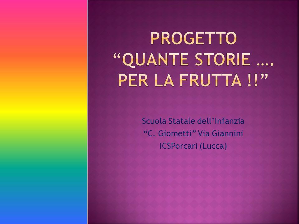 Scuola Statale dellInfanzia C. Giometti Via Giannini ICSPorcari (Lucca)