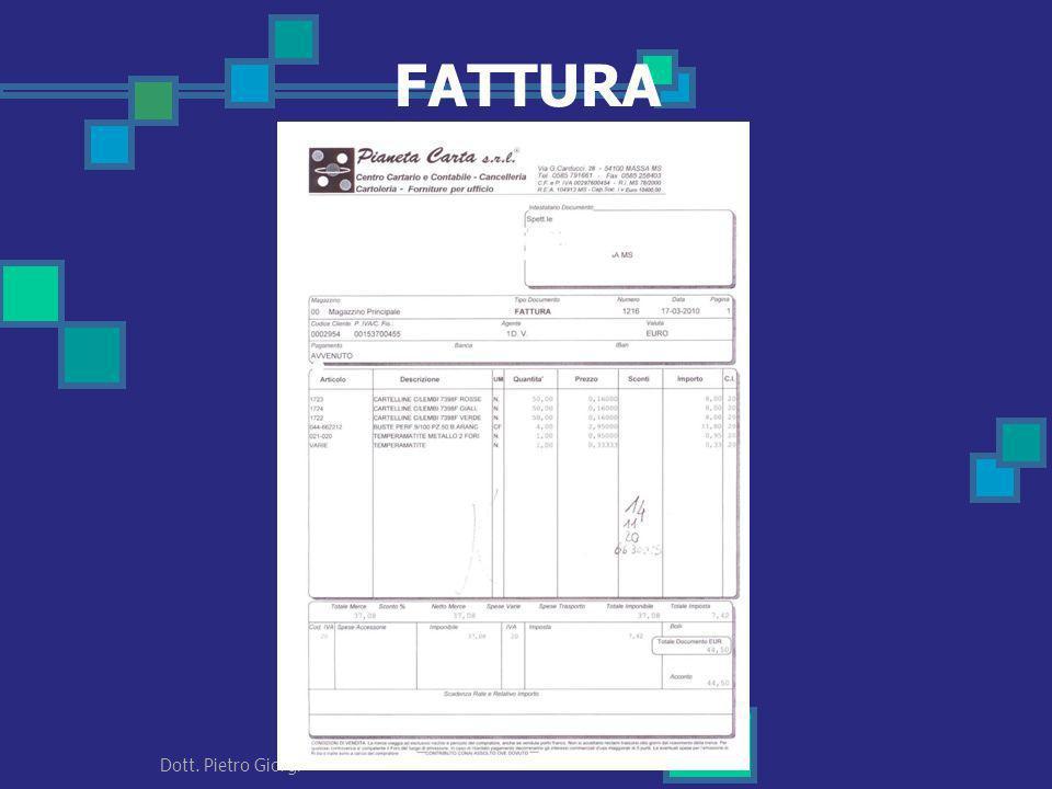 FATTURA 66 Dott. Pietro Giorgi