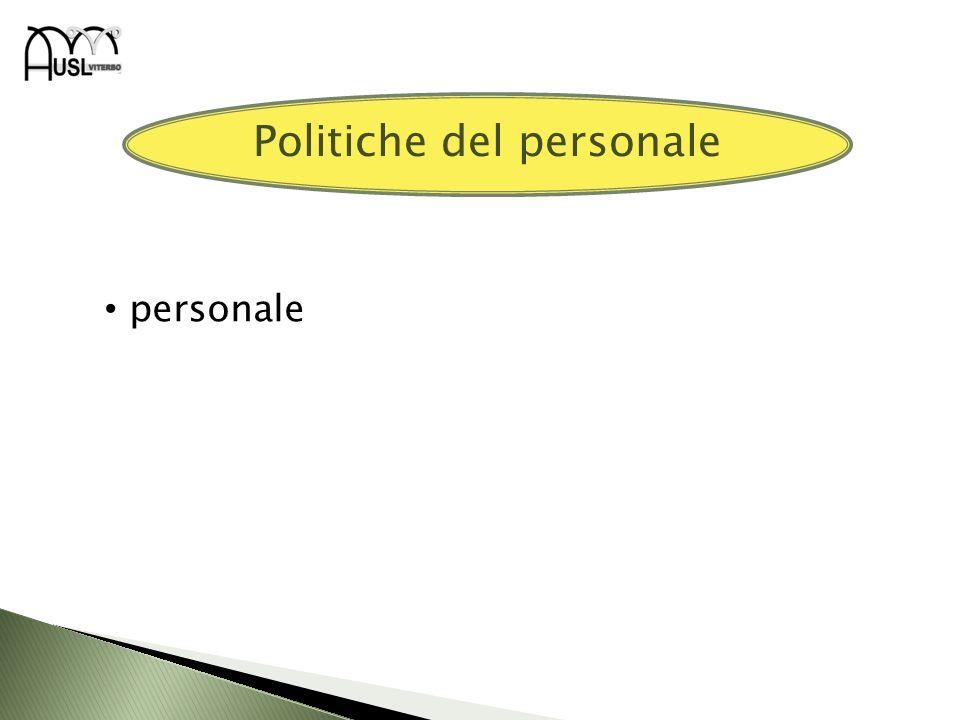 personale Politiche del personale