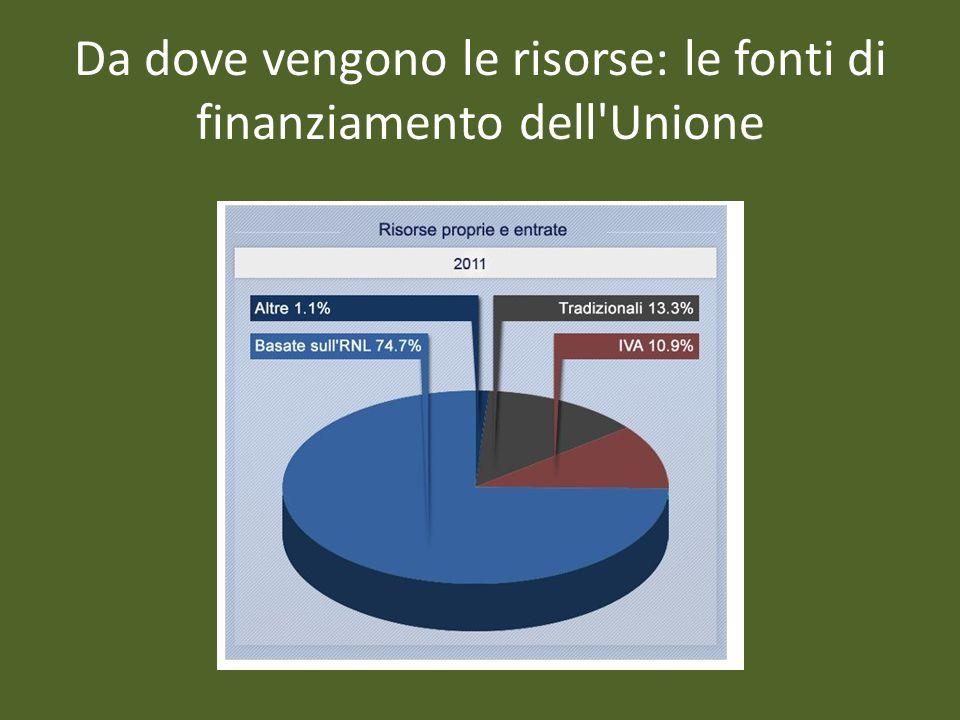 Da dove vengono le risorse: le fonti di finanziamento dell'Unione