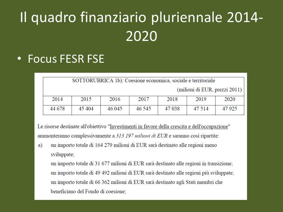 Focus FESR FSE