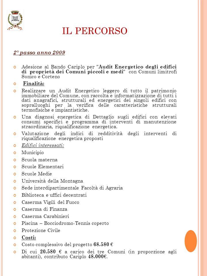 IL PERCORSO 3° passo anno 2010 Promozione iniziativa Gruppi di Acquisto per: IMPIANTI FOTOVOLTAICI IMPIANTI SOLARI TERMICI Vantaggi offerti dallorganizzazione di un Gruppo dAcquisto Forme di incentivazione e Possibilità finanziarie