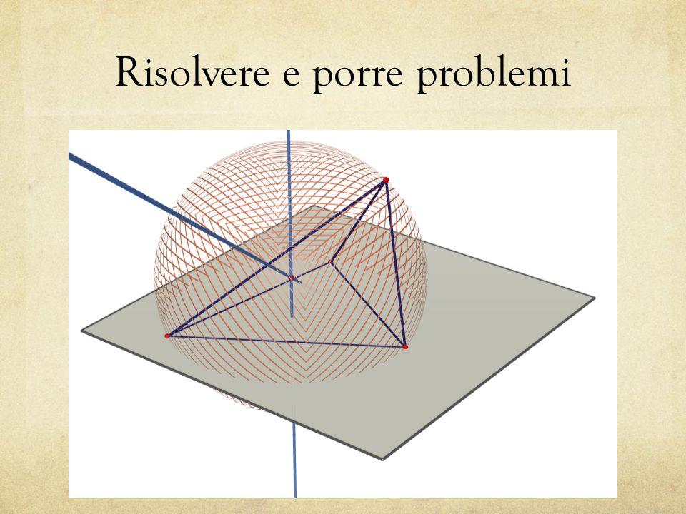 Geometria … proprietà dei principali solidi geometrici (in particolare dei poliedri e dei solidi di rotazione).