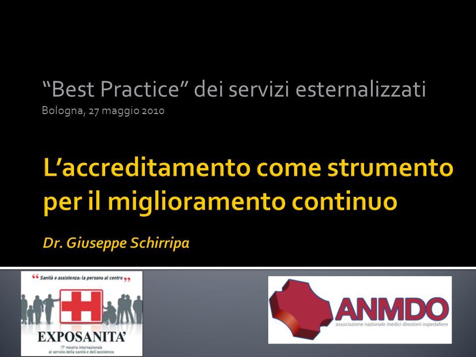 Best Practice dei servizi esternalizzati Bologna, 27 maggio 2010