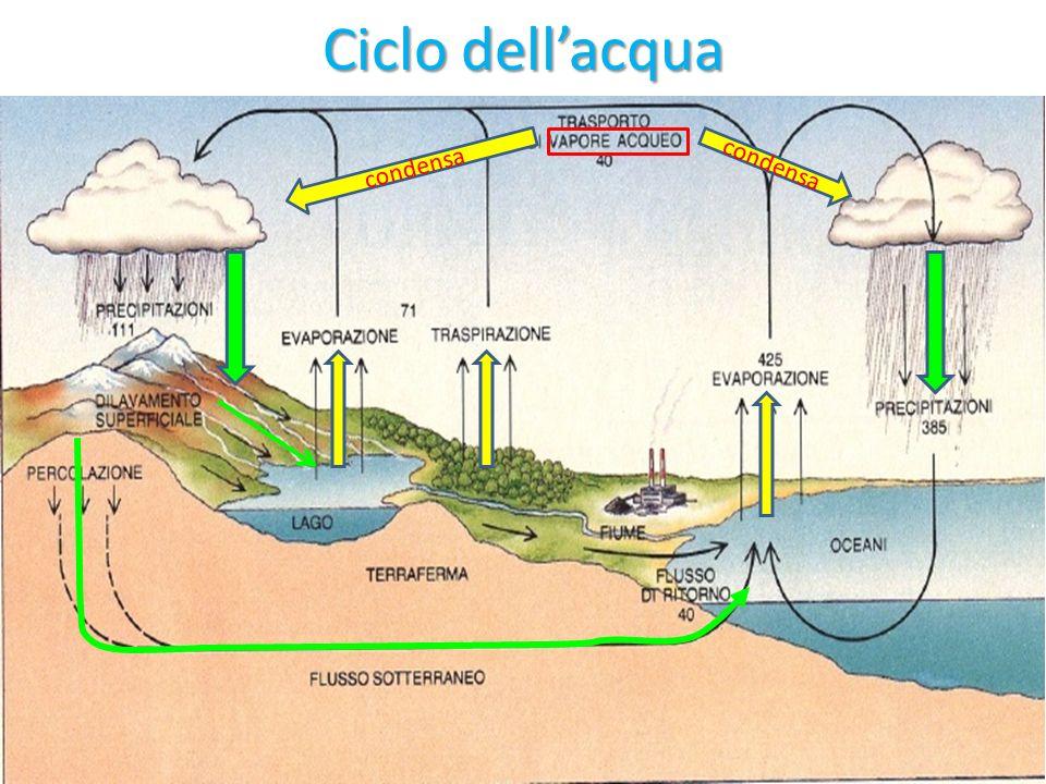Ciclo dellacqua condensa
