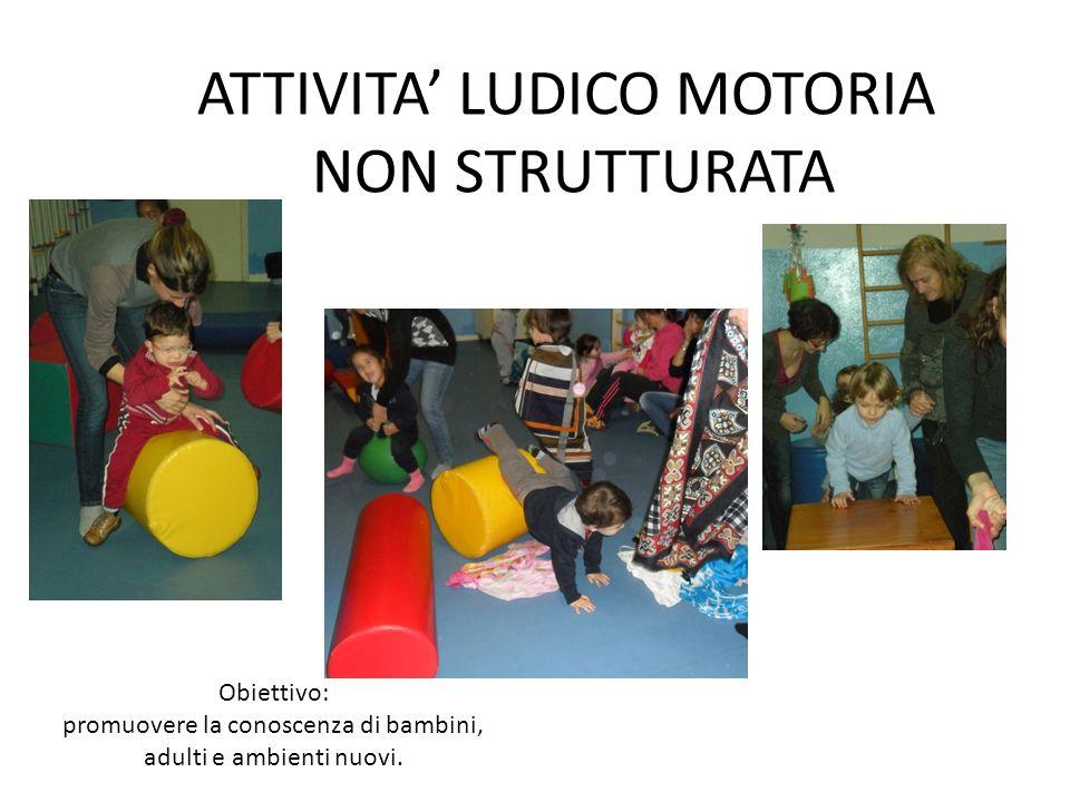 Obiettivo: promuovere la conoscenza di bambini, adulti e ambienti nuovi. ATTIVITA LUDICO MOTORIA NON STRUTTURATA