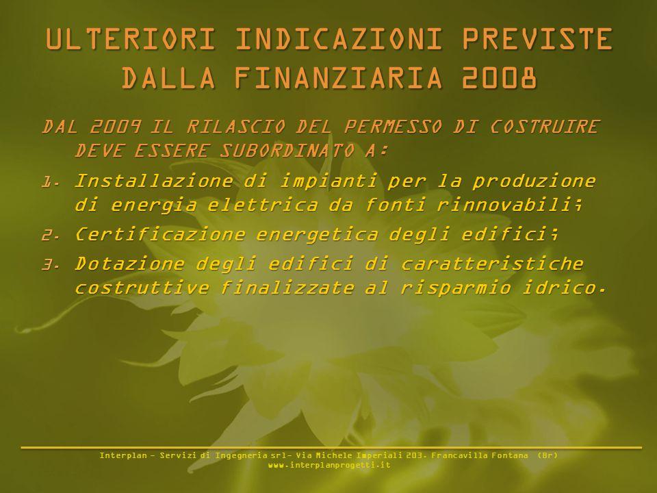 Interplan - Servizi di Ingegneria srl- Via Michele Imperiali 203. Francavilla Fontana (Br) www.interplanprogetti.it DAL 2009 IL RILASCIO DEL PERMESSO