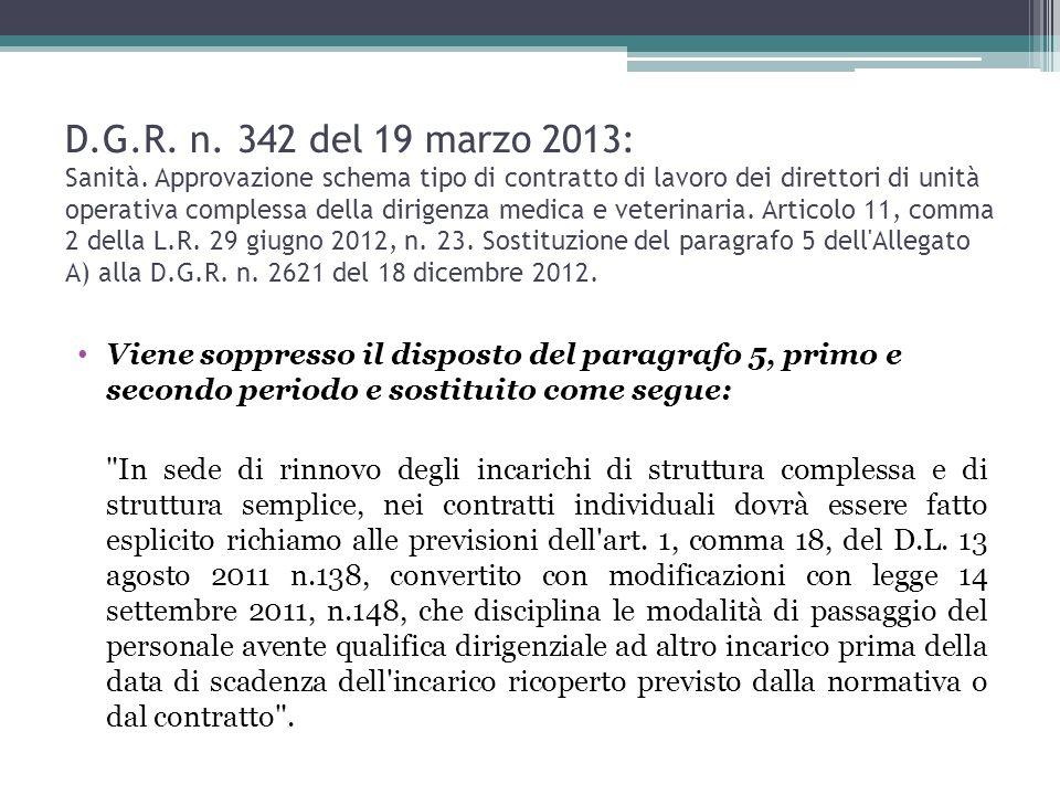 D.G.R.n. 342 del 19 marzo 2013: Sanità.